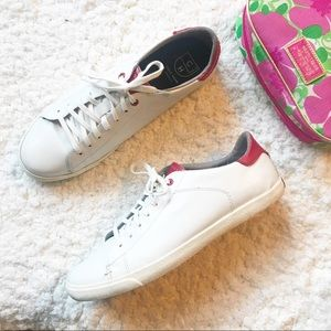 COLE HAAN Red/ White Grand Crosscourt Sneaker 10.5